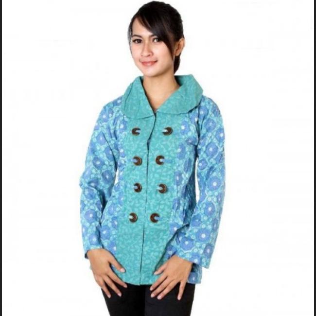 Model Baju Batik Semi Formal: Model Baju Batik Kantor Wanita Kombinasi Yang Modis Dan Formal