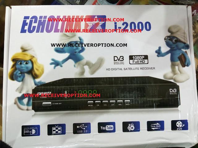 ECHOLINK i-2000 HD RECEIVER AUTO ROLL POWERVU KEY NEW SOFTWARE