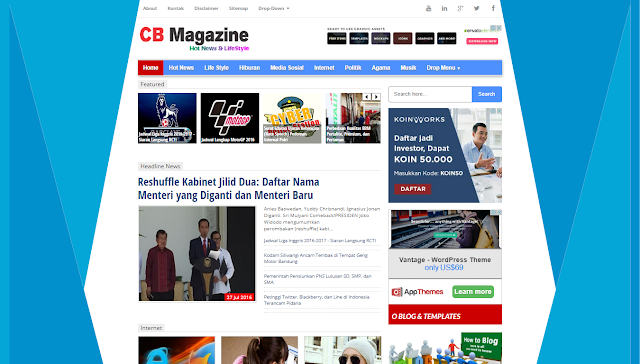 6 Template Blog Berita - Simple, SEO Dan Responsive