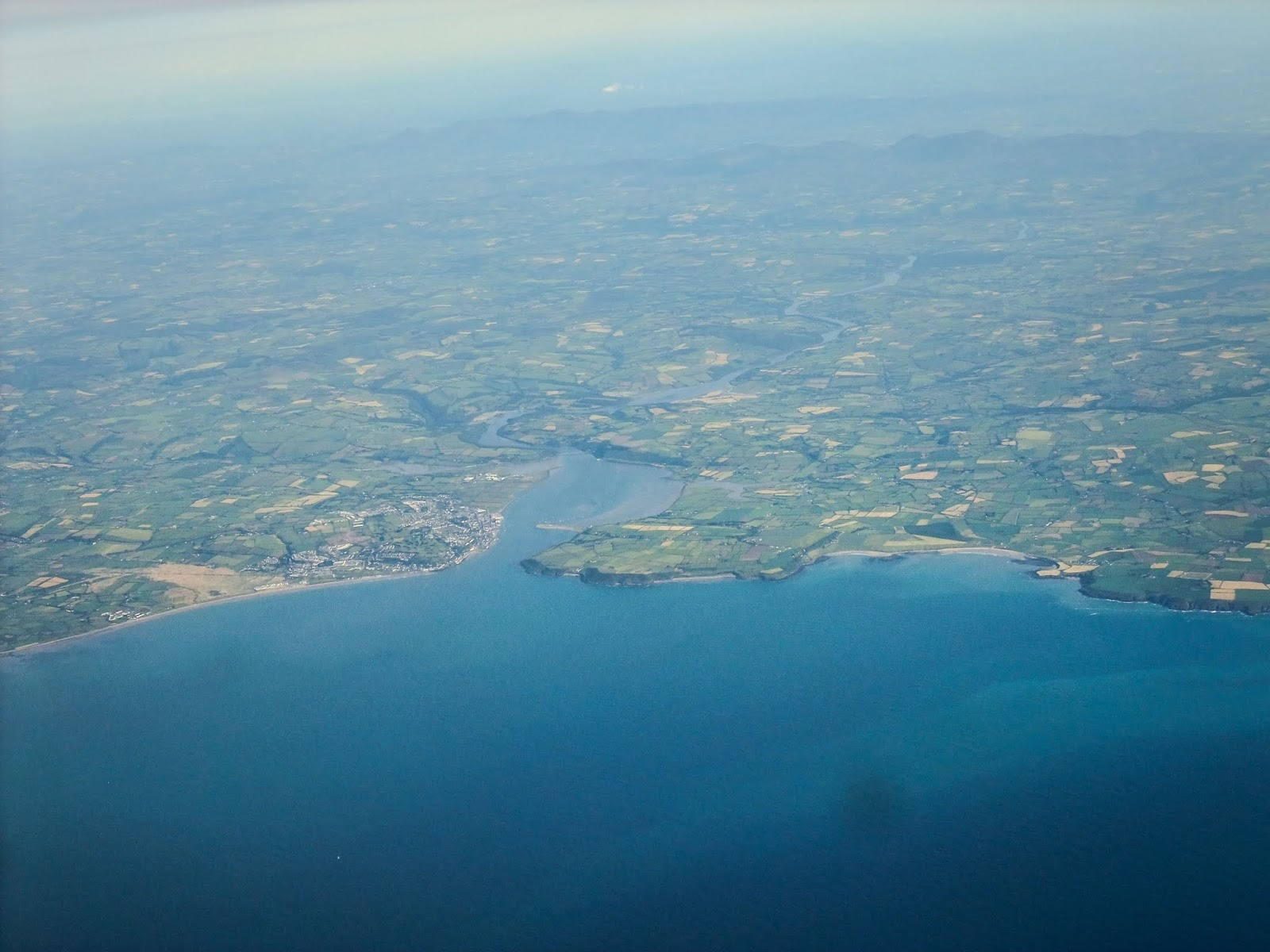 Youghal Bay captured from a plane.
