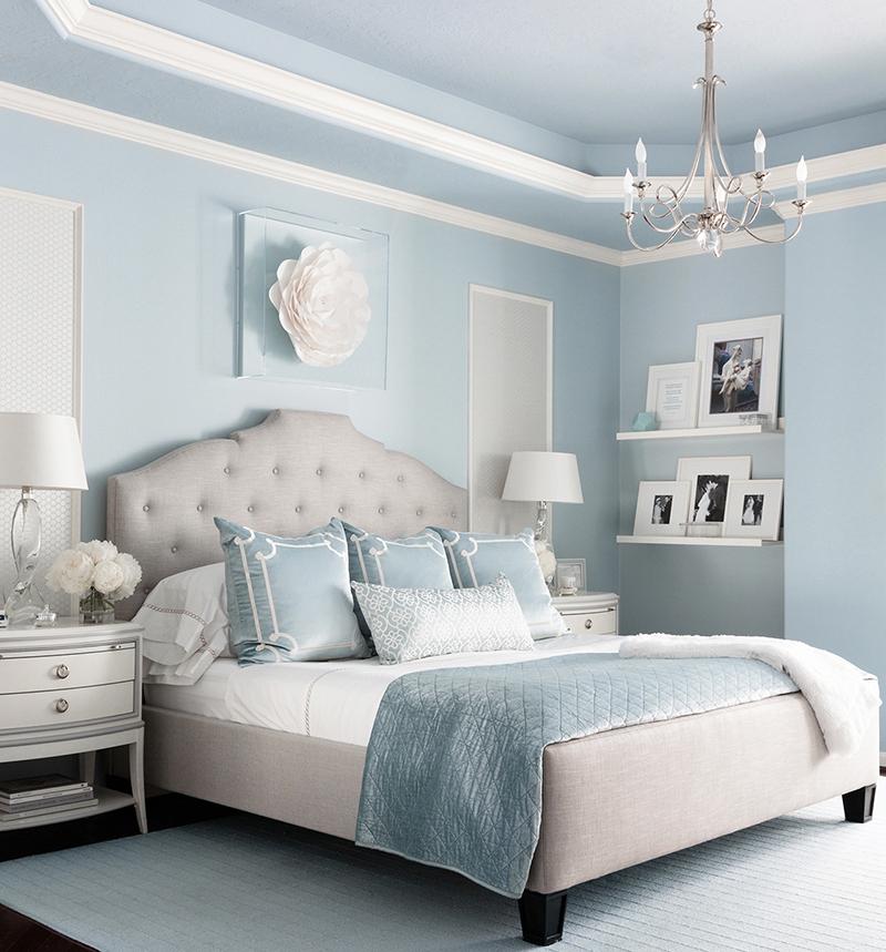 25 Stunning Transitional Bedroom Design Ideas: Bricolage E Decoração: Decorar Sala E Quarto Em Azul