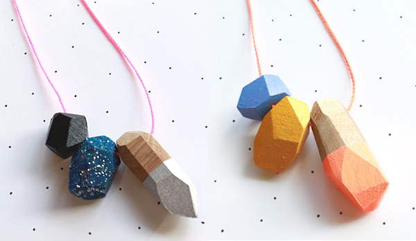 Wooden pendents from So Little Time Co.