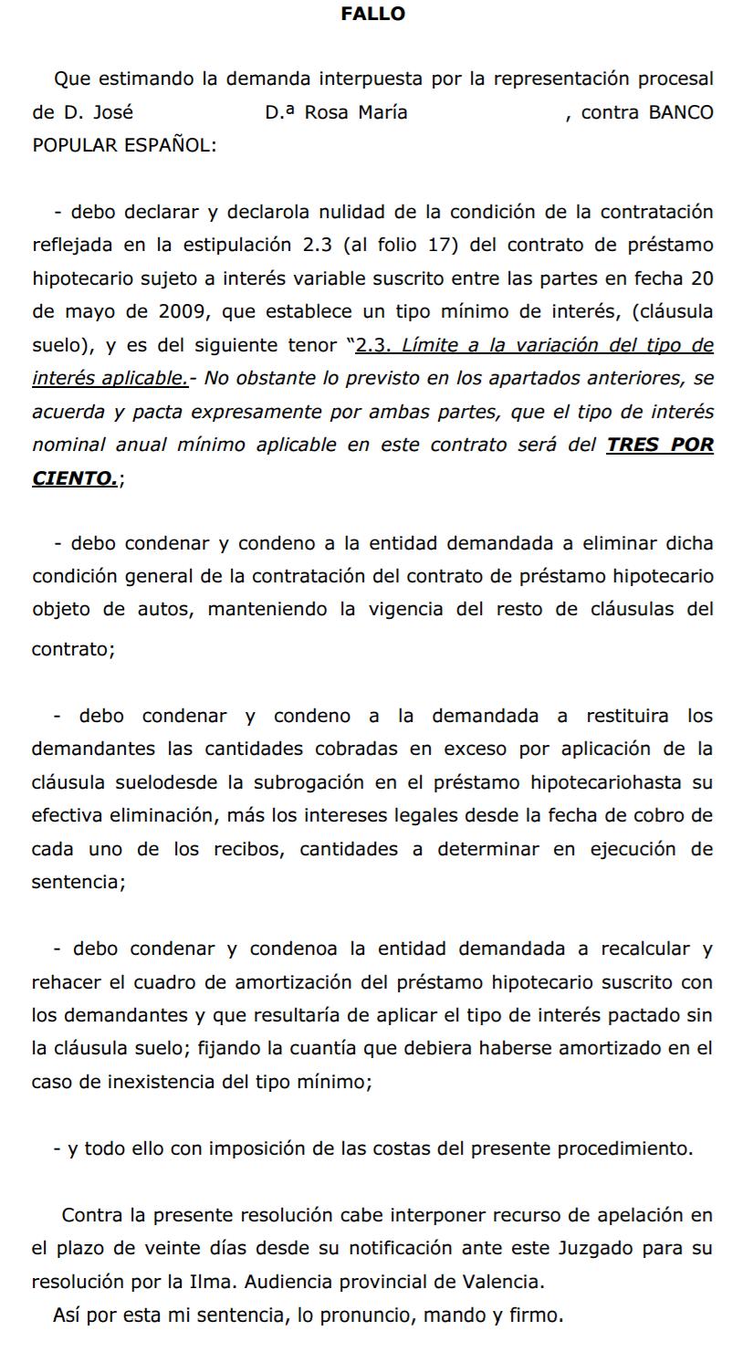 Cl usula suelo elimina ya la cl usula suelo de tu hipoteca for Hipoteca clausula suelo banco popular