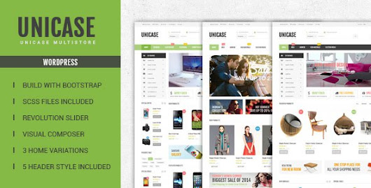 Download Free Unicase WooCommerce Theme for WordPress v.1.1.1