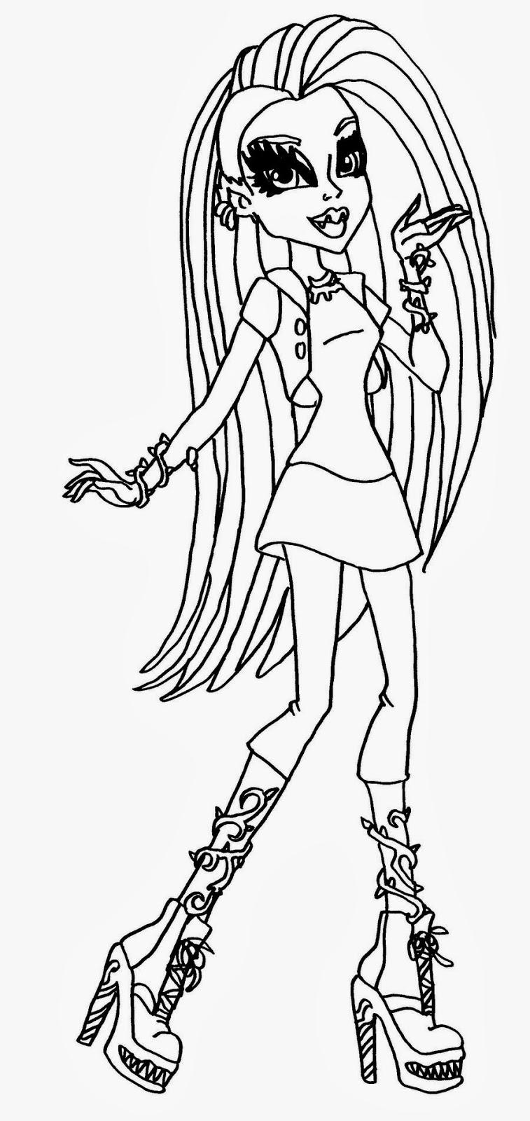 Maestra de Primaria: Las Monster High. Dibujos para imprimir, para ...