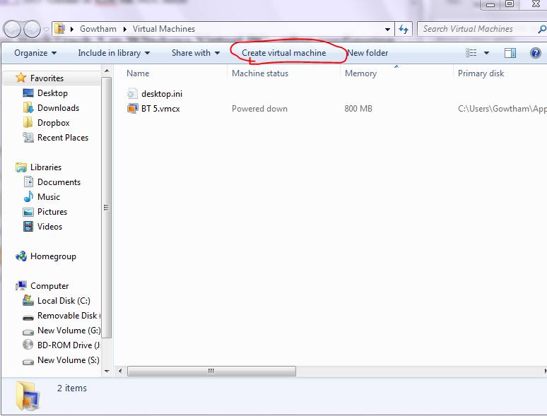 How to run BackTrack 5 in Windows Virtual PC in Windows 7