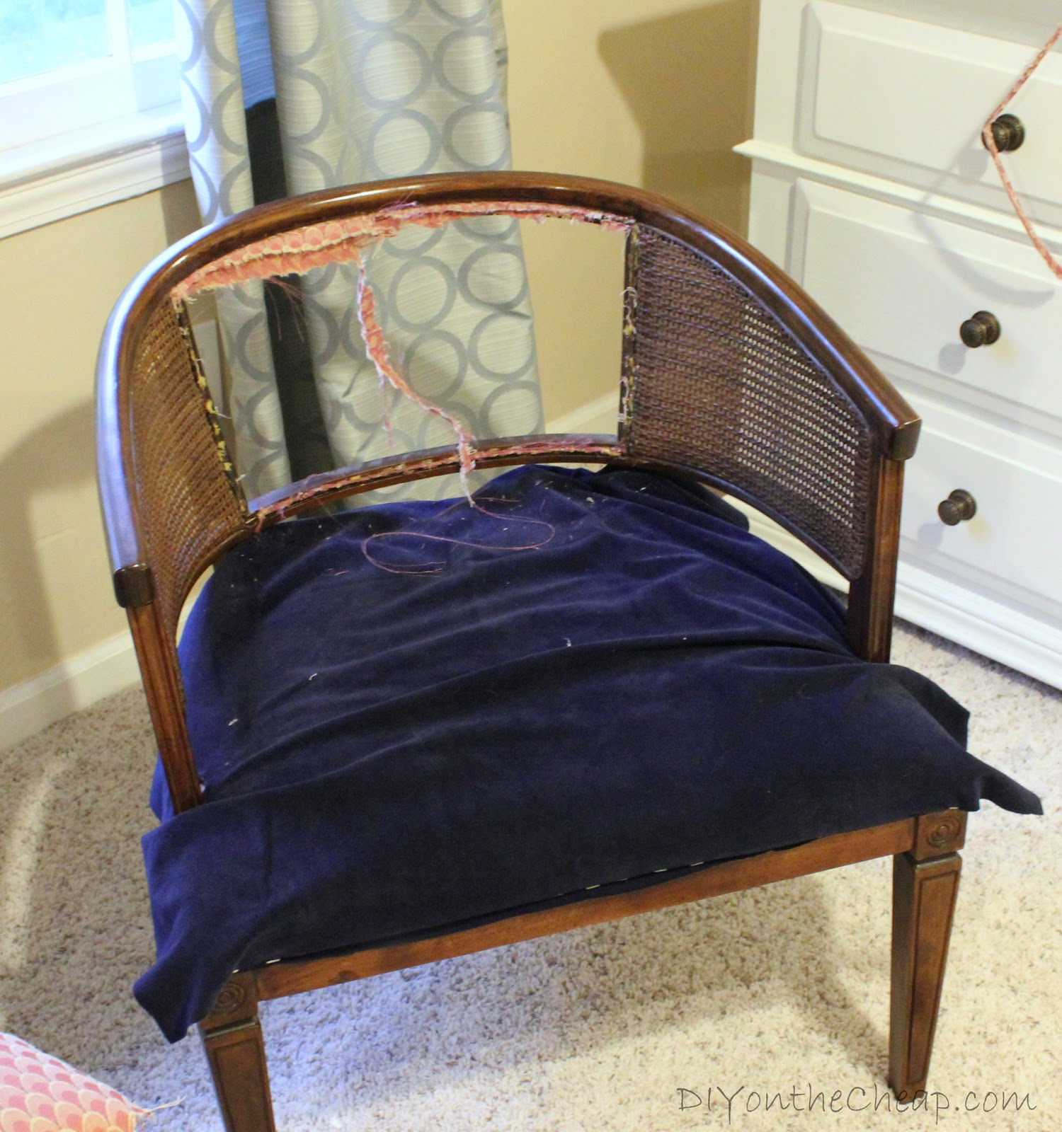 How To Replace Cane Back Chair With Fabric Office Ergonomic My Lazy Girl 39s Guide Reupholstering Chairs A Tutorial