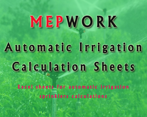 Download excel sheets for automatic irrigation sprinklers design and calculations - free spreadsheet xls