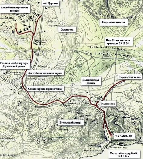 Карта железной дороги в Балаклаве