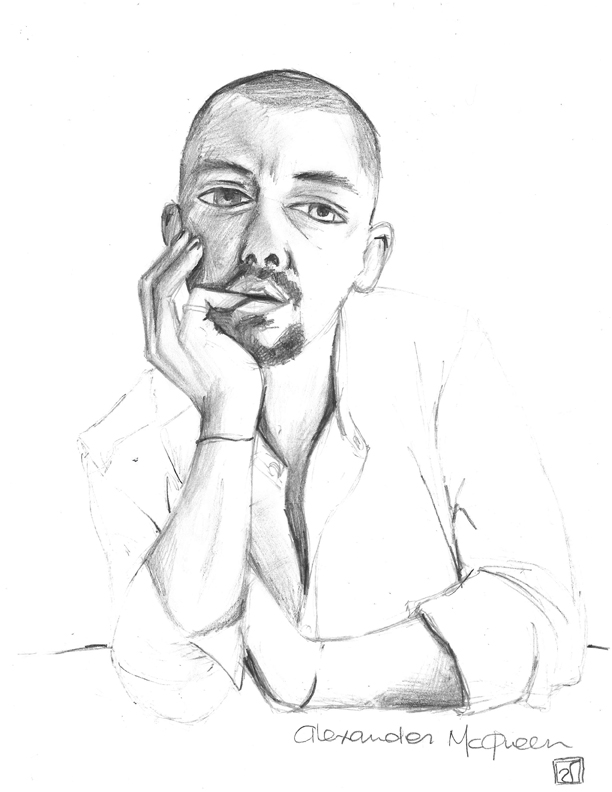 GinGer afterTaste: Alexander McQueen Sketch