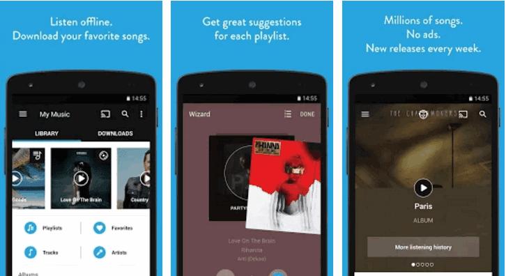 نابستر تمكنك من العثور على قوائم التشغيل من المستخدمين الآخرين، Napster Music