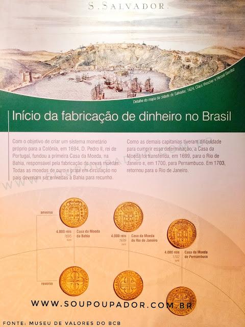 26. Visita ao Museu de Valores do Banco Central do Brasil em Brasília: início da fabricação de dinheiro no Brasil