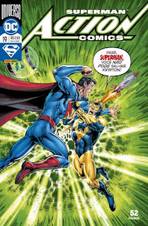 Neste mês é lançada no Brasil a HQ Superman: Action Comics #19 pela Panini. Na HQ, Superman utiliza a esteira do Flash para salvar Krypton da explosão que levou o planeta a completa destruição, porem o Gladiador Dourado tenta impedi-lo, pois isto causaria uma catástrofe na linha temporal. Mas o que você acha? Ansioso para ler a HQ? Deixe a sua opinião nos comentários.