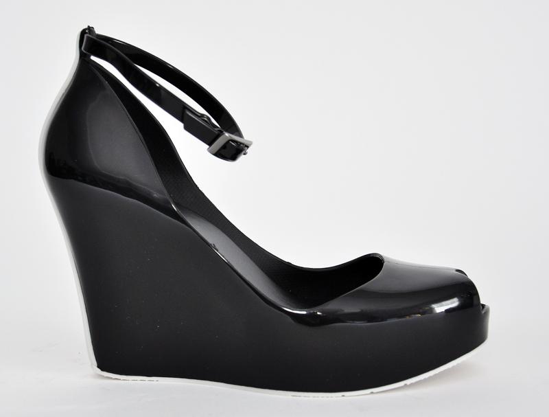 Melissa Black Wedge Shoes