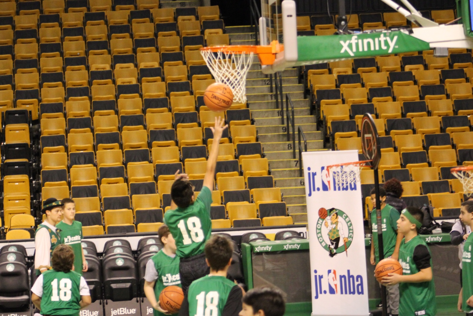 Evan and Lauren\'s Cool Blog: Jr. Celtics Clinic Great Skills for Kids