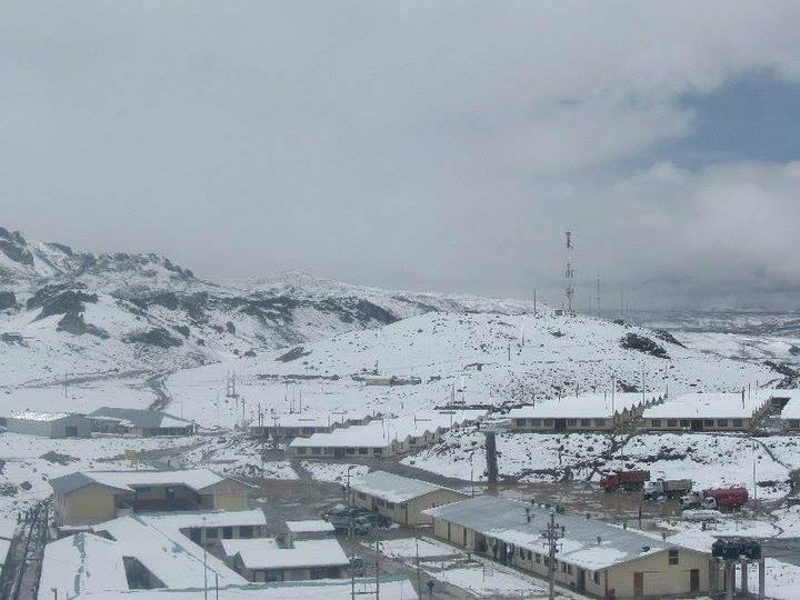 Minas Arcata bajo nieve