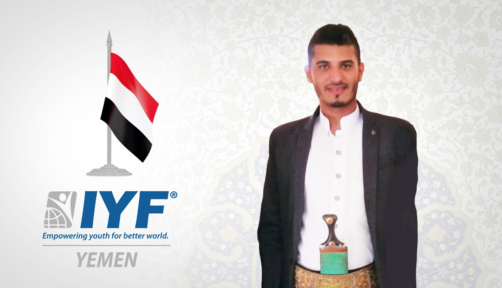 Hamza Al Fareh as IYF Representative in Yemen