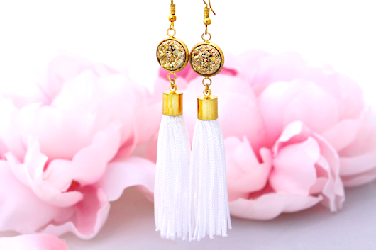 Do It Yourself Dazzling Druzy & Tassel Earrings {+ Giveaway}