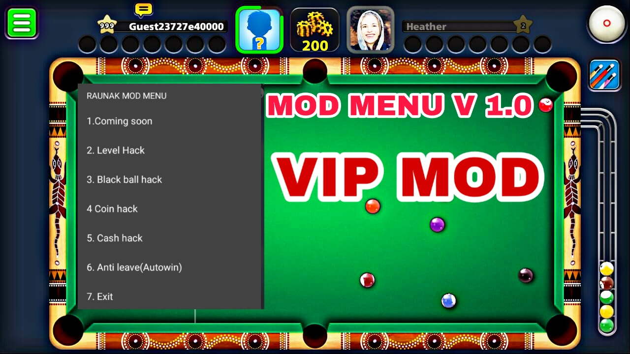 8 ball pool apk mod menu