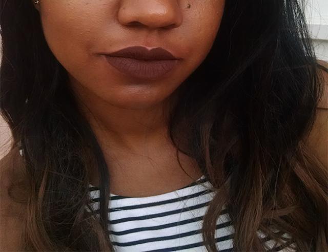 Batom Limbo da Colourpop na pele negra