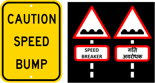 Image result for speed breakers ahead