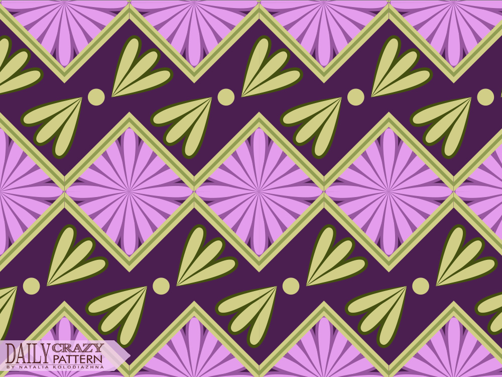 "Purple geometric pattern for ""Daily Crazy Pattern"""