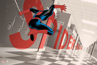 New York Comic Con 2017 Exclusive Spider-Man Variant Screen Print by Doaly x Bottleneck Gallery x Marvel