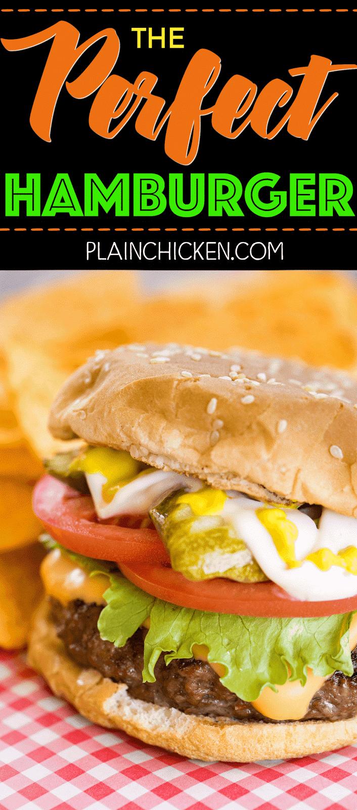 the perfect hamburger plain chicken. Black Bedroom Furniture Sets. Home Design Ideas
