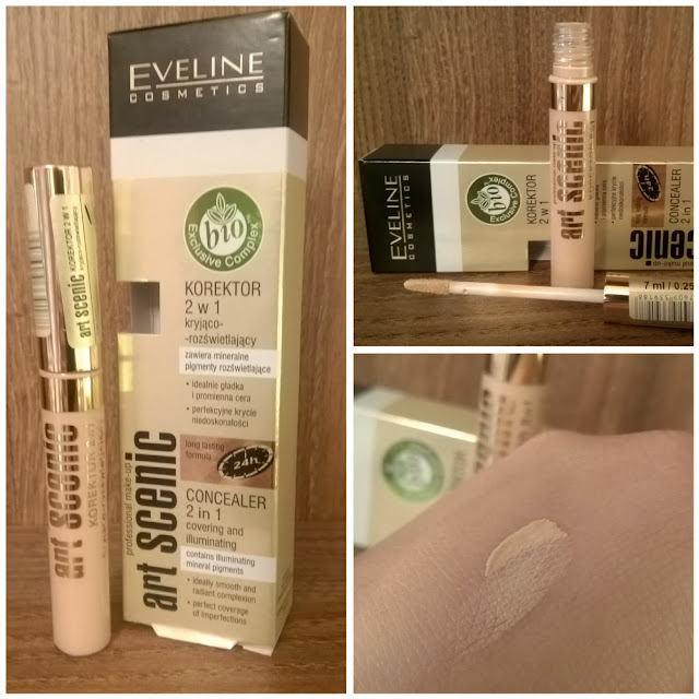 Eveline Cosmetics, Art Scenic Korektor 2 w 1 Kryjąco-Rozświetlający