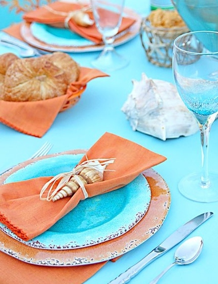 DIY Seashell Napkin Ring Idea