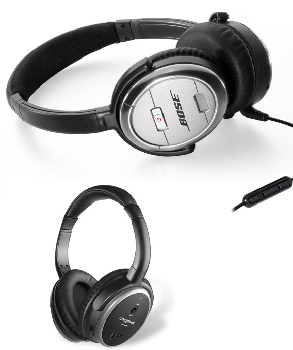 QuietComfort and Creative HN-900 Headphones Review - Quiet Study Spaces