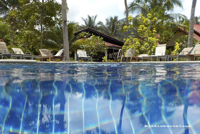 Swimming pool at The Noble House beach resort, Ko Lanta