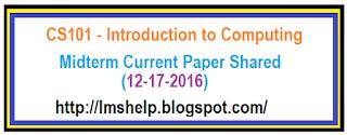 CS101 Current Paper