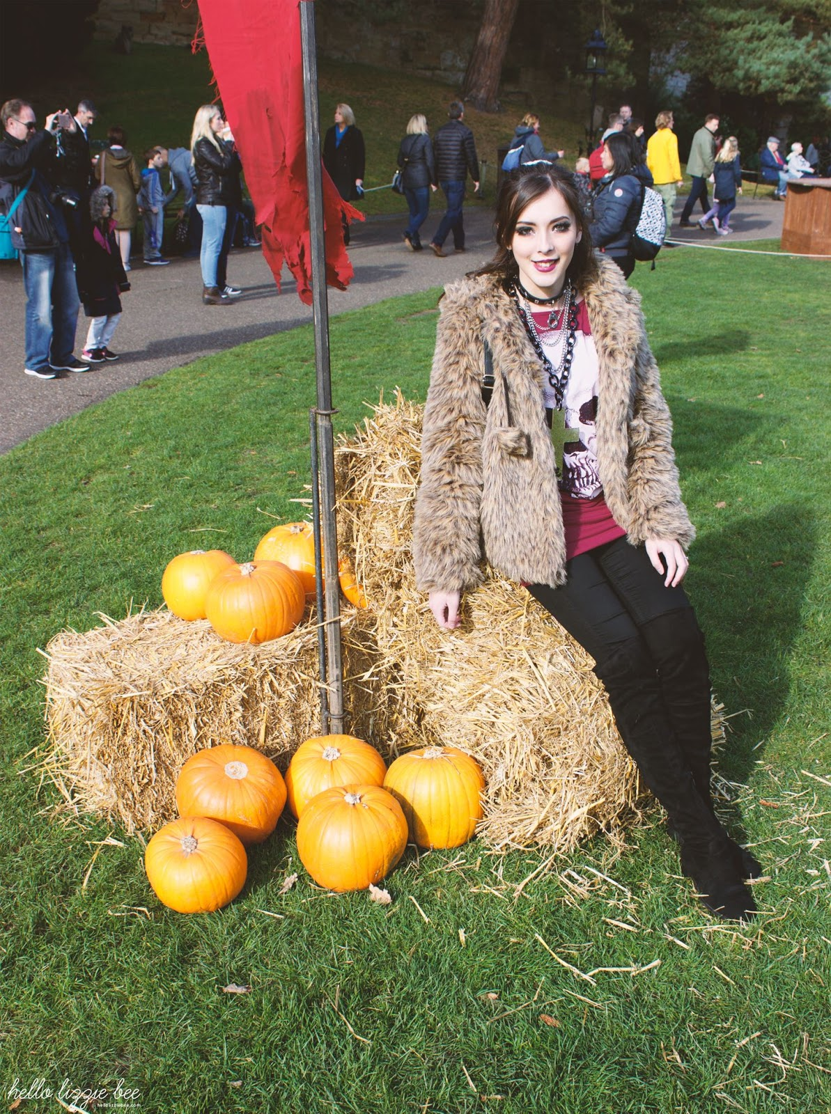 rokku gyaru, warwick castle, pumpkin, halloween