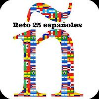 Banner del reto de reseñar 25 libros españoles