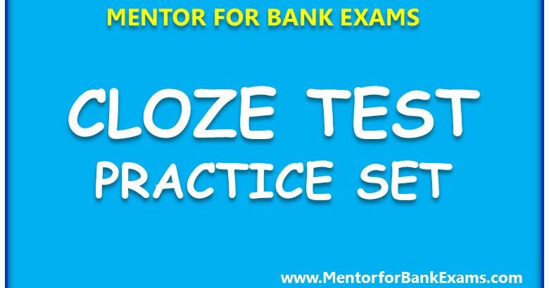 articles cloze test