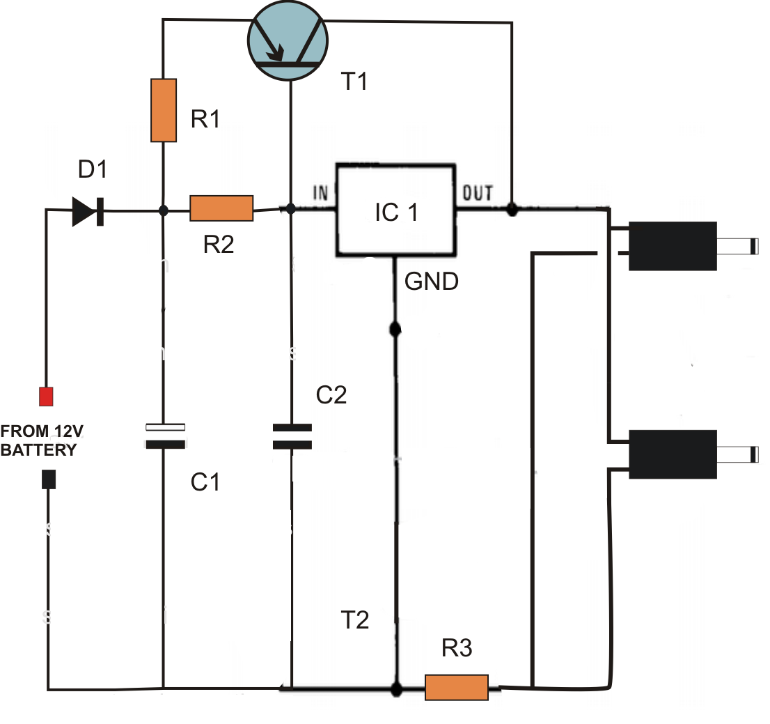 dc to dc double cell phone charger circuit [ 1106 x 1039 Pixel ]