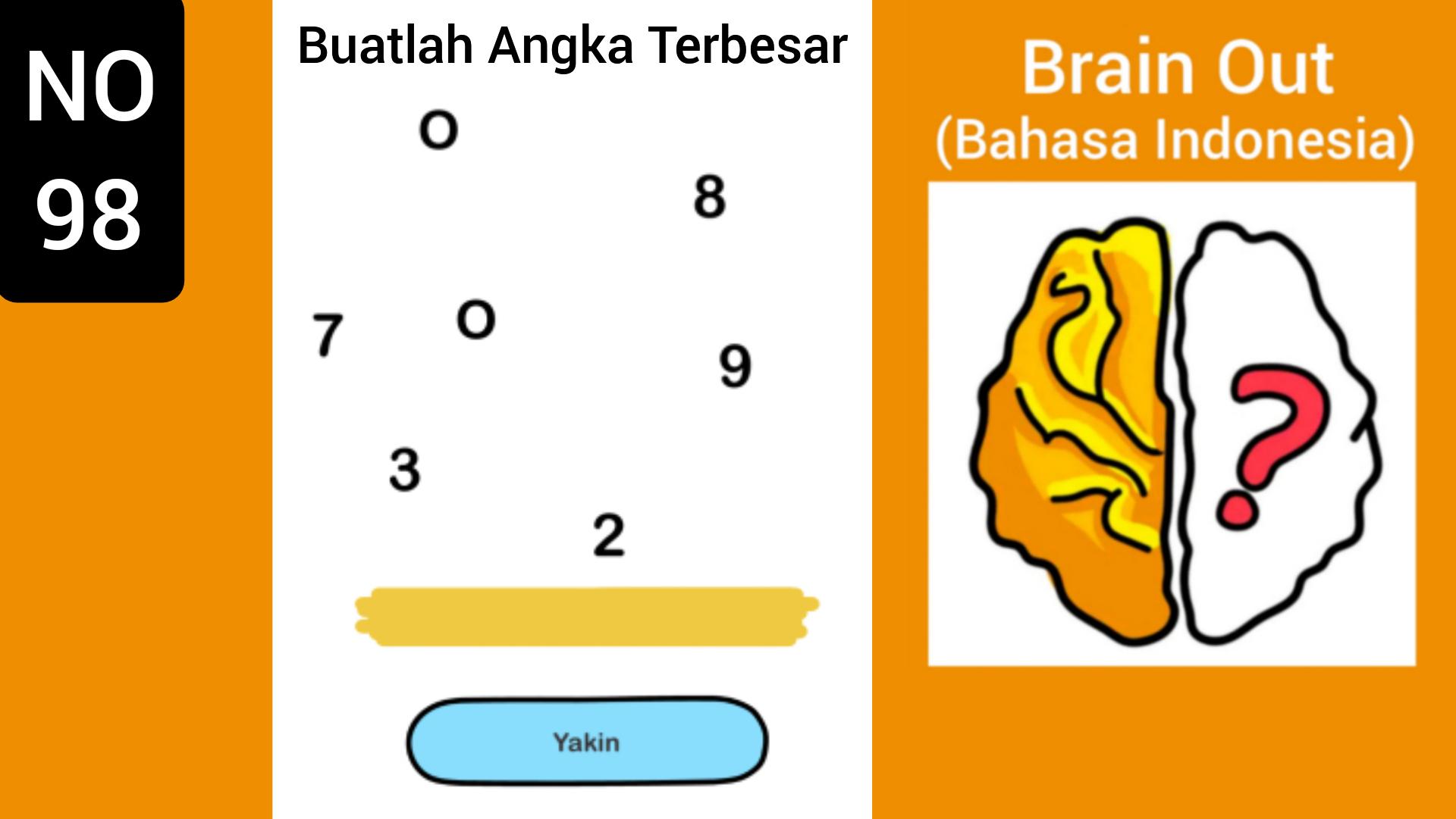 Buatlah angka 5 menjadi 9 dengan cara memindahkan 1 korek dari angka 8 ke angka 5. Kunci Jawaban Brain Out Angka Terbesar - Jawaban Buatlah