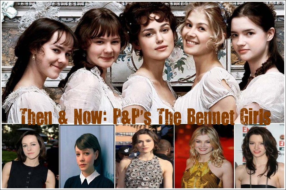 Then & Now: Pride & Prejudice (2005)'s The Bennet Girls