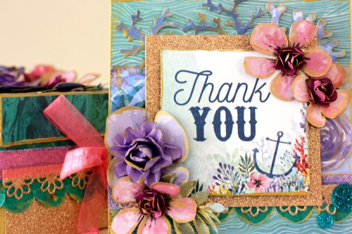 Kaisercraft Mermaid Tails Thank you Card and Gift Box by Alicia McNamara
