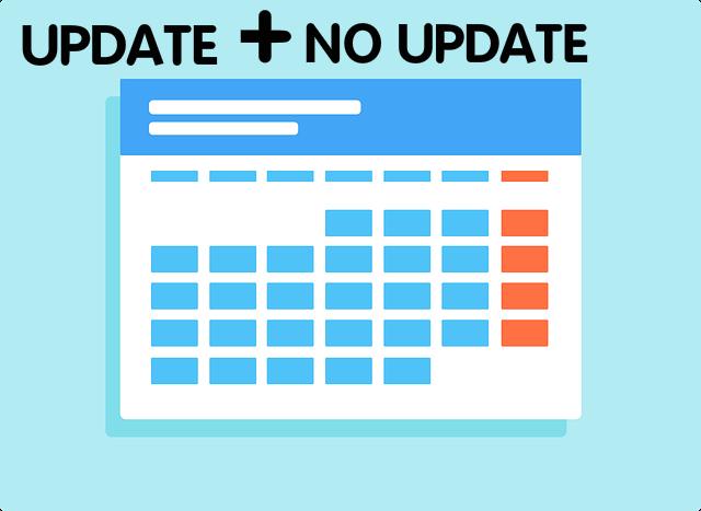 sering update dan jarang update artikel, sekalinya update langsung membuat artikel yang berkualitas