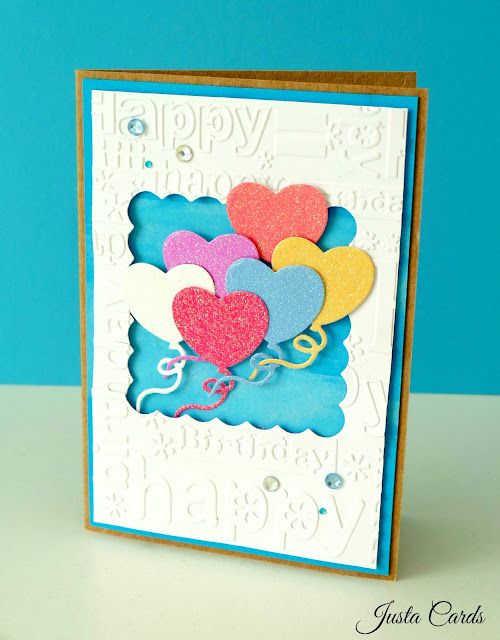 birthday card with ballons