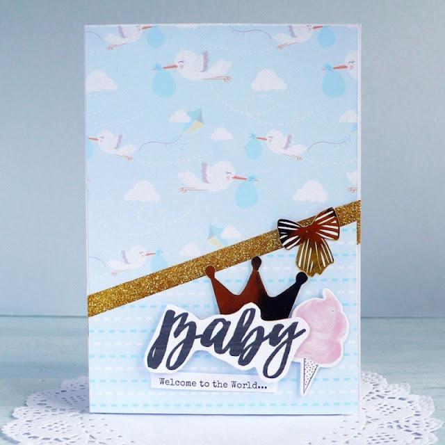 Cardmaking -  Biglietto per nascita