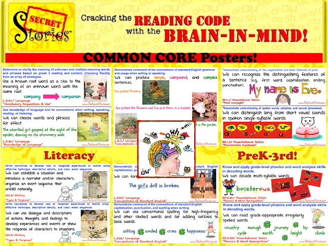 FREE Secret Stories® Phonics Common Core Literacy Posters for PreK-3rd Grade