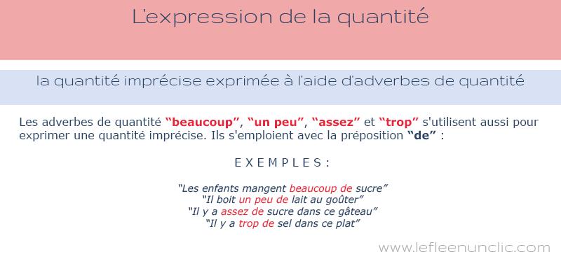 FLE, la quantité imprécise exprimée à l'aide d'adverbes de quantité en français