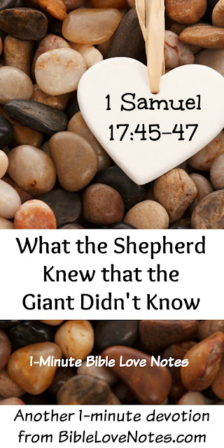 The Shepherd Knew. The Giant Didn't.