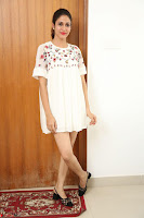 Lavanya Tripathi in Summer Style Spicy Short White Dress at her Interview  Exclusive 254.JPG