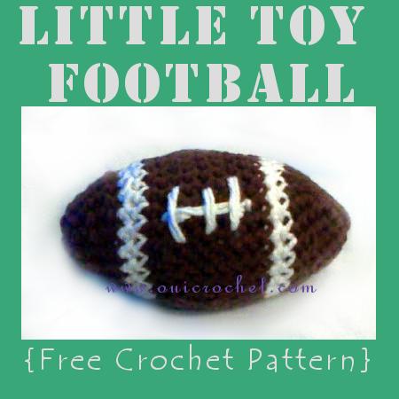 Crochet, Crochet Football, Crochet Football Pattern, Free Crochet Pattern, Crochet Toys,