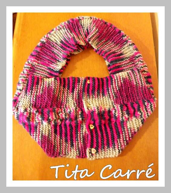 Gola Cachecol Multicor em tricot
