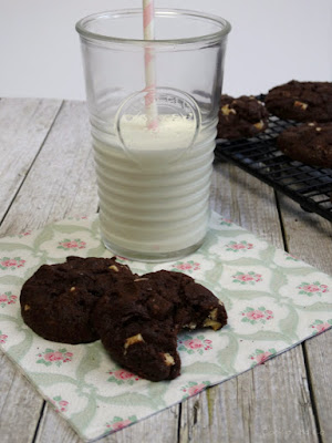 Black & White Double Chocolatechip Cookies